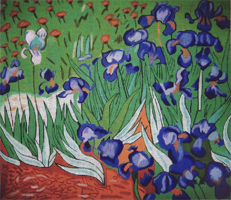 click here to view larger image of Van Gogh - Irises (hand painted canvases)