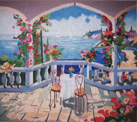 click here to view larger image of Marina Cafe (hand painted canvases)