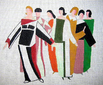 click here to view larger image of Seven Ladies (hand painted canvases)