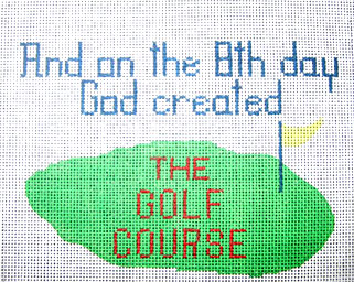 click here to view larger image of Golf 8th Day (hand painted canvases)
