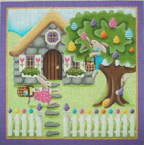 click here to view larger image of Easter Cottage (hand painted canvases)