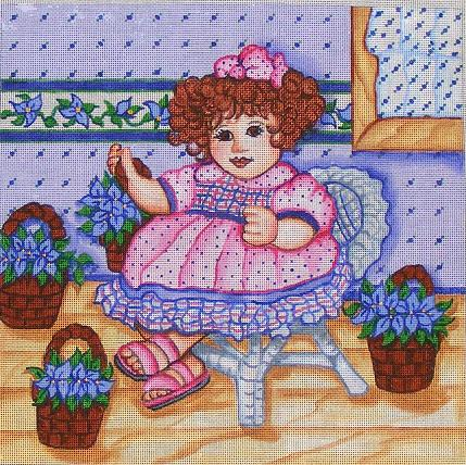 click here to view larger image of Baby Doll Violet - 13ct (hand painted canvases)