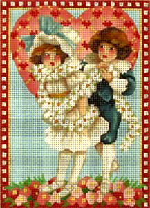 click here to view larger image of Victorian Valentines - Daisy Chain (hand painted canvases)