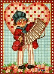 click here to view larger image of Victorian Valentine - Sweet Music (hand painted canvases)