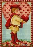 click here to view larger image of Victorian Valentine - Knave of Hearts (hand painted canvases)