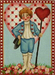 click here to view larger image of Victorian Valentine - Big Heart (hand painted canvases)