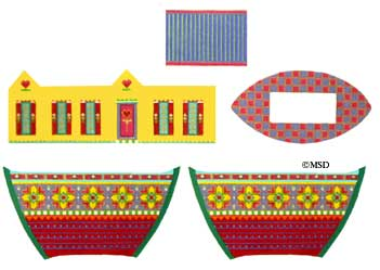 click here to view larger image of Fancy 3D Noah's Ark (hand painted canvases)