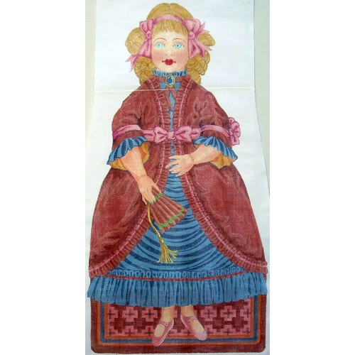click here to view larger image of Julie Doll (hand painted canvases)