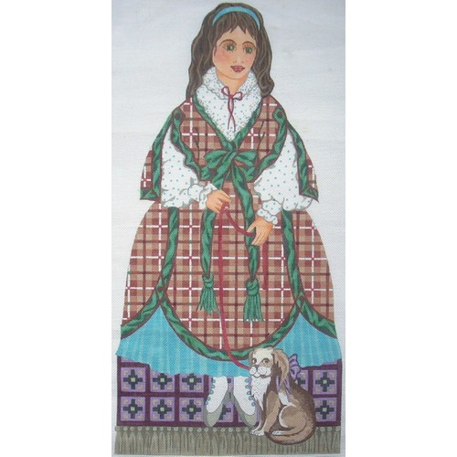 click here to view larger image of Plaid Doll (hand painted canvases)