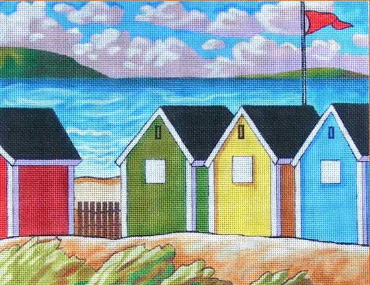 click here to view larger image of Windy Seaside Huts (hand painted canvases)