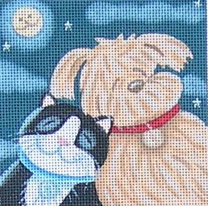 click here to view larger image of Moonlight Friends (hand painted canvases)