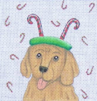 click here to view larger image of Golden Retriever (hand painted canvases)