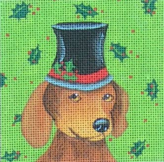 click here to view larger image of Dachshund (hand painted canvases)