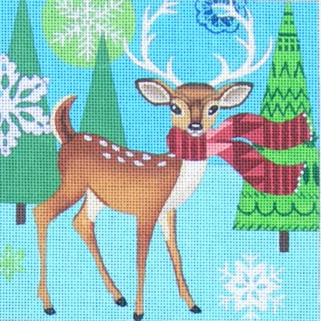 click here to view larger image of Woodland Deer (hand painted canvases)