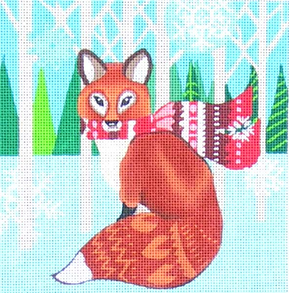 click here to view larger image of Woodland Fox (hand painted canvases)