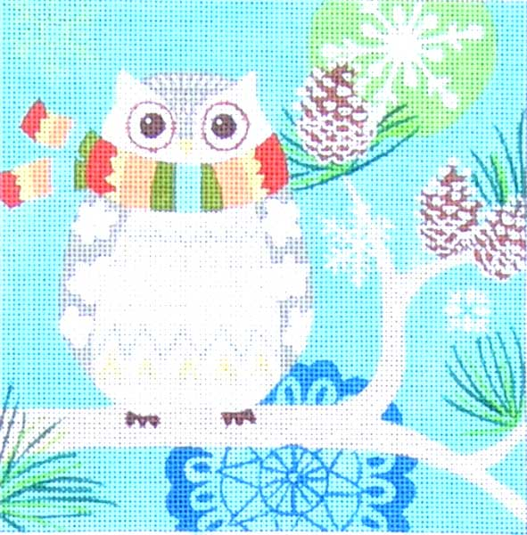 click here to view larger image of Woodland Owl (hand painted canvases)