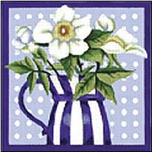 click here to view larger image of White Rose (hand painted canvases)