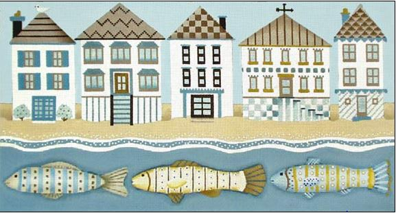 click here to view larger image of Beach Houses (hand painted canvases)