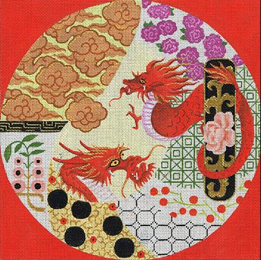 click here to view larger image of Dreams of the Dragon (hand painted canvases)