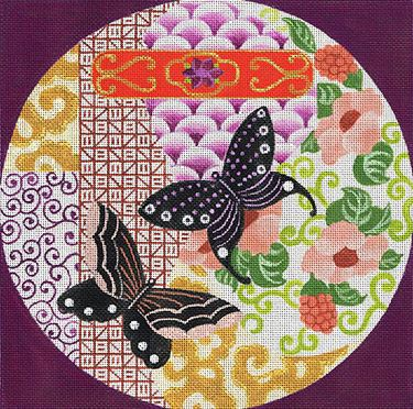 click here to view larger image of Beckoning Butterflies (hand painted canvases)