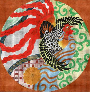 click here to view larger image of Flaming Fowl (hand painted canvases)