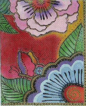 click here to view larger image of Butterfly Flowers (hand painted canvases)