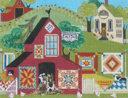 click here to view larger image of Quilt Sale (hand painted canvases)