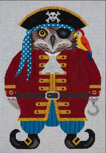click here to view larger image of Historical Blackbeak Hooter (hand painted canvases)
