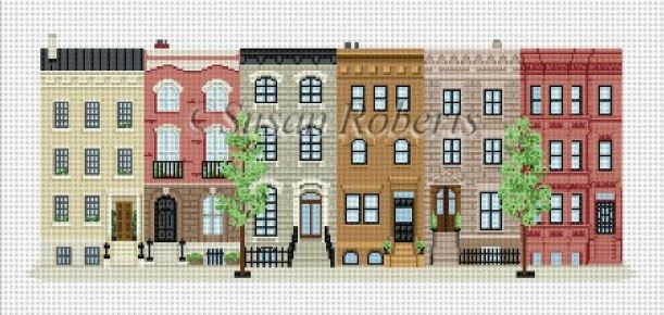 click here to view larger image of Brownstones (hand painted canvases)