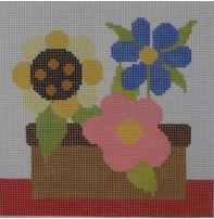 click here to view larger image of Simple Floral (hand painted canvases)