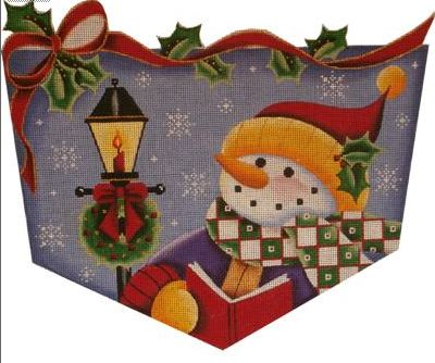 click here to view larger image of Caroler Snowman Cuff - 13ct (hand painted canvases)