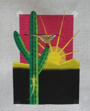 click here to view larger image of Cactus Wish (hand painted canvases)