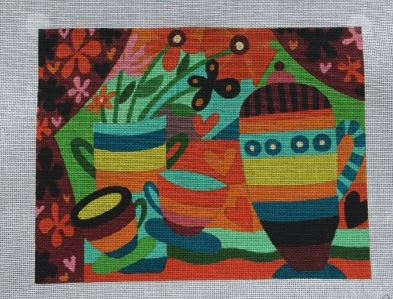 click here to view larger image of Dancing Teapot (hand painted canvases)