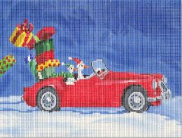 click here to view larger image of Hot Rod Christmas Geese (hand painted canvases)