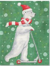 click here to view larger image of Razor Scooter Polar Bear (hand painted canvases)