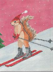 click here to view larger image of Skiing Squirrel (hand painted canvases)
