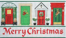 click here to view larger image of Christmas Doors (hand painted canvases)