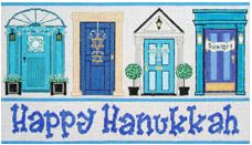 click here to view larger image of Hanukkah Doors (hand painted canvases)