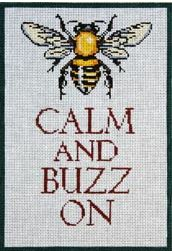 click here to view larger image of Bee Calm (hand painted canvases)