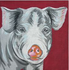 click here to view larger image of Pig (hand painted canvases)