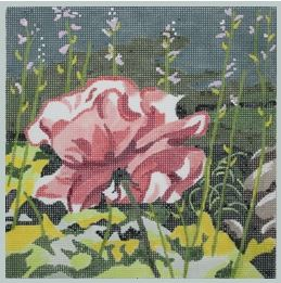 click here to view larger image of Ruffle Rose 9x9 (hand painted canvases)