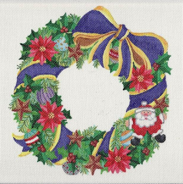 click here to view larger image of Christmas Wreath (hand painted canvases)