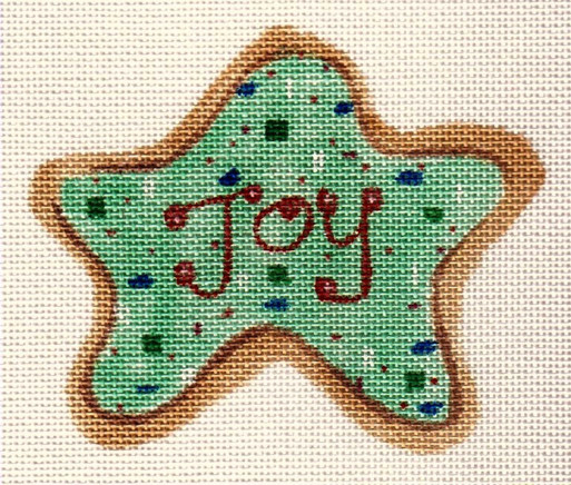 click here to view larger image of Joy Cookie Ornament (hand painted canvases)