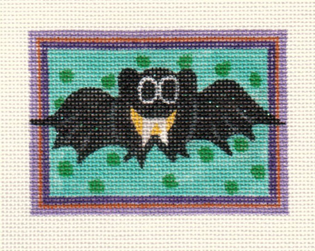 click here to view larger image of Little Bat Ornament (hand painted canvases)