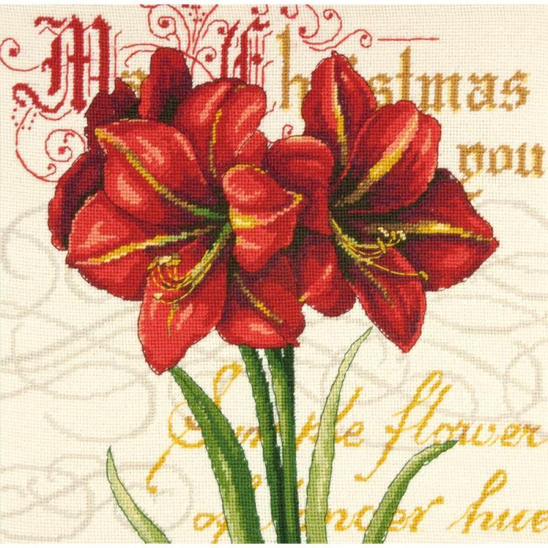 click here to view larger image of Elegant Amaryllis (needlepoint kits)