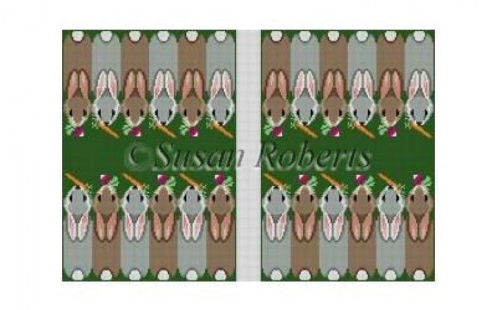 click here to view larger image of Bunnies Backgammon Board (hand painted canvases)