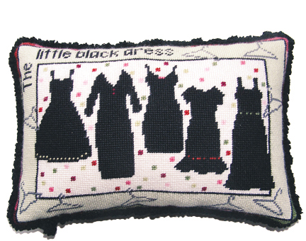 click here to view larger image of Little Black Dress, The (hand painted canvases)