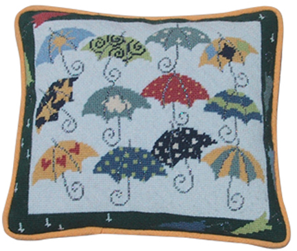 click here to view larger image of Twelve Umbrellas for Rainy Days (hand painted canvases)