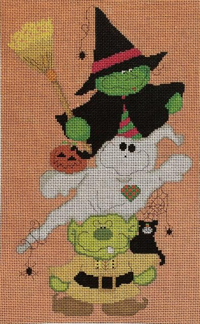 click here to view larger image of Blight, Broomhilda and Booz (hand painted canvases)