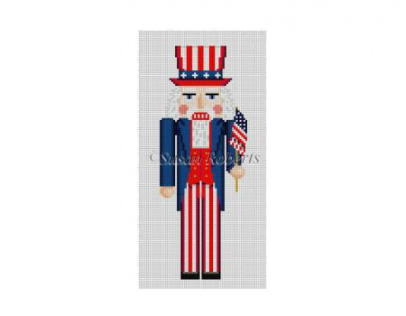 click here to view larger image of Uncle Sam Nutcracker Ornament (hand painted canvases)